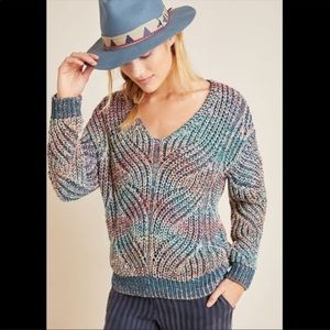 Anthropologie Chroma Multicolor ChunkyKnit Sweater